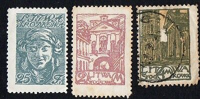 Central Lithuania. 1920 New Daily Stamps. MH / Cancelled
