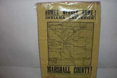 MARSHALL COUNTY INDIANA sale of land advertisement 1900's original mailing