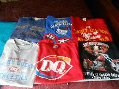 Dairy Queen Lot Of 6 T Shirts Size Large