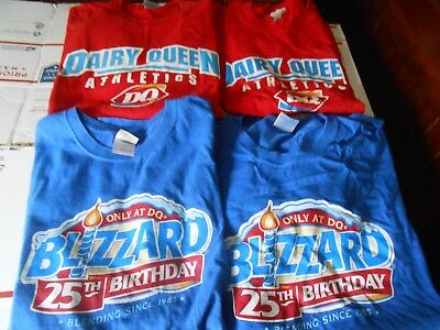 Dairy Queen T Shirt Lot Of 4 Size Xl