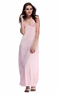 5c87271603 MIss Pixy Women s Night Suit Solid Pink Nighty Poly Satin Casual Sleepwear
