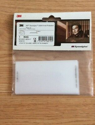 Speedglas 9000X Inner Protection Plate (Pk of 5) Item 428010. 54mm x 104mm aprox