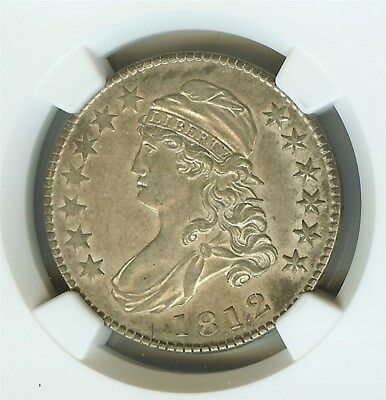 1812 Capped Bust Silver 50 Cents  Ngc Au55