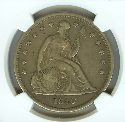 1840 Seated Liberty Silver Dollar  Ngc Vf25
