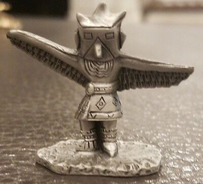 Vintage Pewter Eagle Dancer Native American Figurine