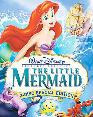 The Little Mermaid DVD 2 Disc Set Platinum Edition with Slipcover Free shipping