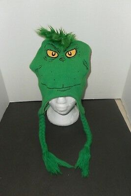 Dr. Suess How The Grinch Stole Christmas Green Beanie Hat Knit Cap Snow Winter