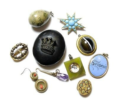 Collection Of Old Jewellery Bits Joblot Lot Af (A4)