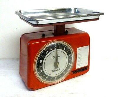 Retro 1960's 'Tower' Weighing Scales in Red