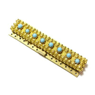 Beautiful Large Antique Georgian Pinchbeck Turquoise Paste Jewellery Clasp (A7)