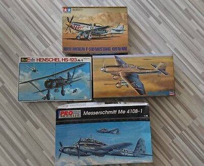 4 Flugzeugmodelle in 1:48 OVP