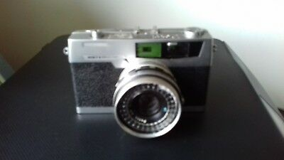 Vintage 1960s Petri 7 S 2.8 45mm Camera With Case, Retro, Made In Japan,