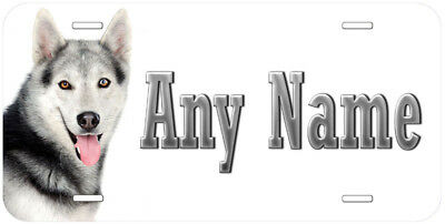 Siberian Husky Dog Any Name Personalized Aluminum Car Tag License Plate