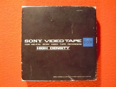 SONY VIDEO TAPE V-60H - FOR HELICAL SCAN VIDEO TAPE RECORDERS - um 1980 (?)