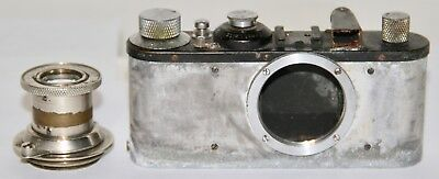 Leica Black Standard Body No. 325393  Made in 1939 Germany Damaged