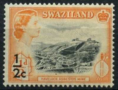 Swaziland 1961 SG#65, 1/2c On 1/2d QEII Definitive MH #D73412