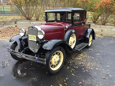 1930 Ford Model A  1930 Model A Ford Deluxe Coupe with Rumble Seat