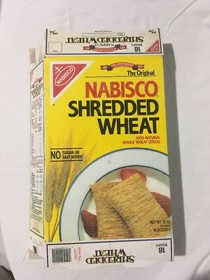 Vintage 1992 Nabisco Shredded Wheat Cereal Box 100th Anniversary 1892
