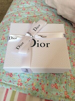Christian Dior Small Gift Box With Ribbon 6 Inches By 5 Inches