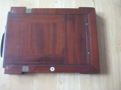 Antique camera mahogany plate holder 8 & 6/10 X 15 &1/2 cms. approx