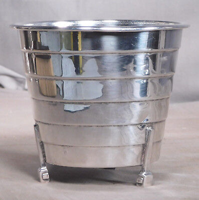 SWEET English Silver Plate Mini Ice Bucket Art Deco Footed Vase MIni Ice Bucket