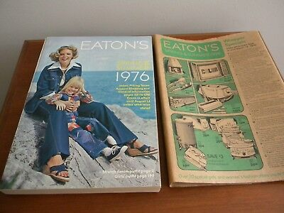 VTG EATON'S 1976 SPRING & SUMMER Store Catalog Canada in jacket wrapper