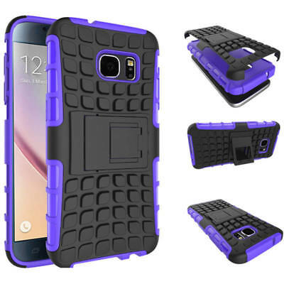 Purple Phone Case For Samsung Galaxy Note 4 Kickstand Free Screen Protector New