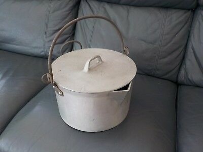 Vintage Large Jam Pan With Lid  Preserves Pan, Collectable Kitchenalia
