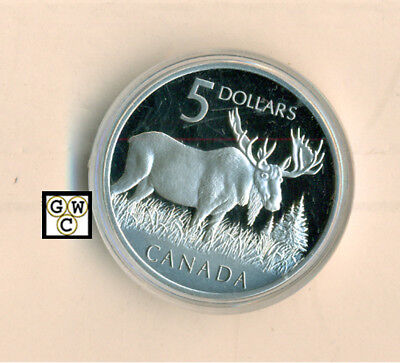 2004 Moose Proof $5 Pure Silver Coin & Stamp Set (10815) (OOAK)