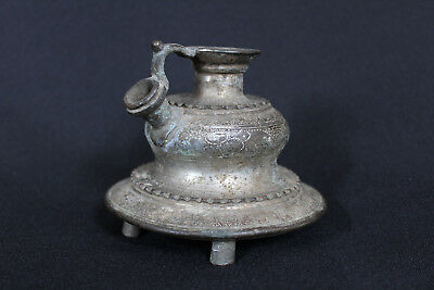 ANTIQUE INDIAN ISLAMIC BRASS/BRONZE HOOKAH BASE INDIA Huqqa Huka Moghul Persia