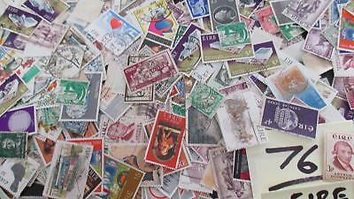 100g Ireland Off Paper Stamps Kiloware #76