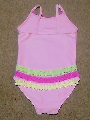 d21368d78b Baby Girls Pink Swimming Costume Swimsuit with Pretty Frill Detail 9-12  months