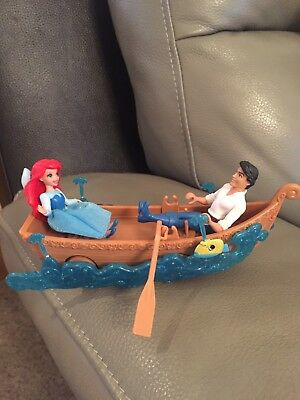 Disney Little Mermaid Ariel And Eric In A Boat