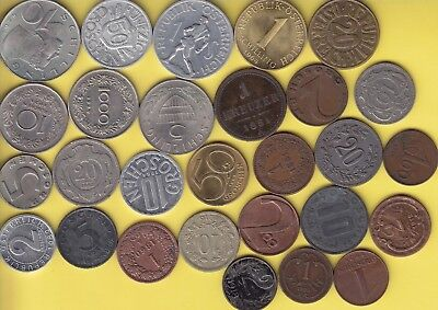 Austria  nice lot of 28 coins..................44