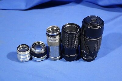 LOT of Assorted Lenses FOR PARTS & REPAIR #L4149BP AS-IS