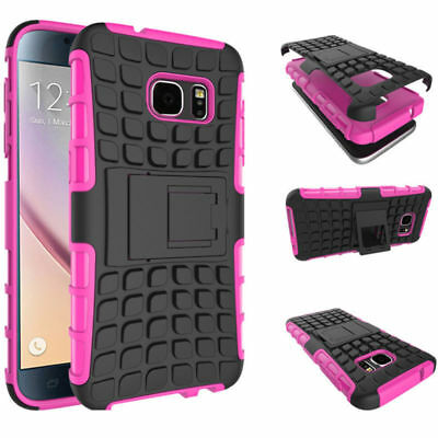 Hybrid Shockproof Case Cover Stand for Samsung Galaxy Note 4 Pink Free Gift