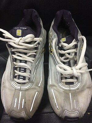 NIKE SHOX NZ Heritage Womens Running Shoes Silver white. Size 9.5 ... 466f143a7