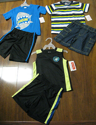 6 Piece Lot of Boys Spring Summer Clothes Size 3 Toddler NWT 3T New