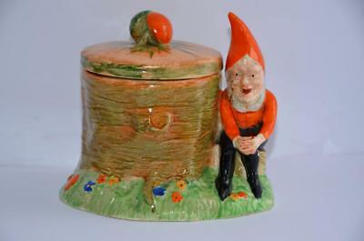 Vintage Crown Devon Elf Jam Pot Gnome Toadstool Kitchenalia Collectable Pottery