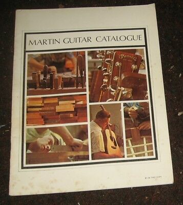 "1970 ""Martin Guitar Catalogue."" 24 Pages. Full Color. All Guitar Models & More."