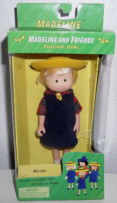 """NEW Nicole 8"""" Madeline and Friends Poseable Dolls Eden 1998 Vintage in Box"""
