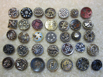 Sweet Collection Of Small Victorian Era Metal Buttons