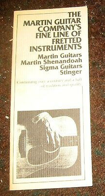 1980s Martin Guitar Catalog w/ Shenandoah, Sigma and Stinger Electric Guitars