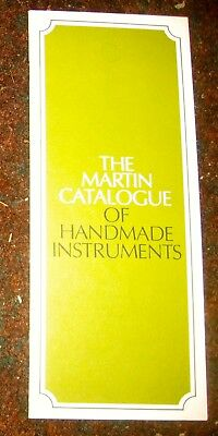 "1975 ""Martin Catalogue of Handmade Instruments."" Martin Guitar Catalog."