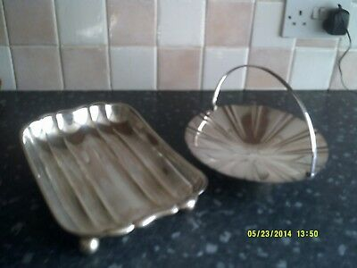 2 good quality silver plated dishes