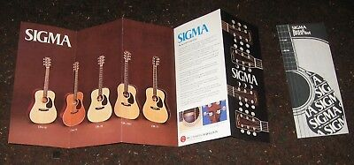 1981 Martin Sigma Guitar Brochure w/ Price List