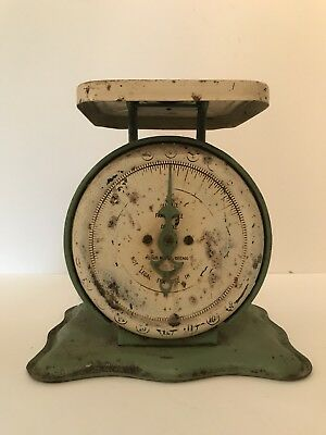 Antique Family Scale Deluxe Pelouze MFG Co. Chicago 24lbs Vintage Counter Scale