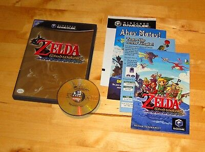 The LEGEND of ZELDA WIND WAKER Nintendo Gamecube console system game COMPLETE