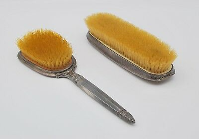 Lot of 2 Antique Sterling Silver Brushes
