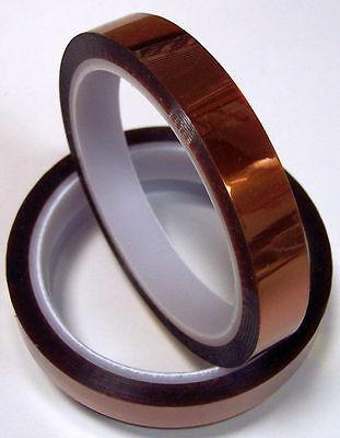 Kapton Polyimide Tape 15mm Wide 2-mil Thick 100-ft Roll